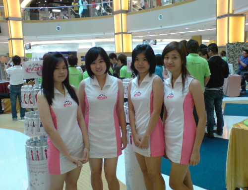 Roadshow for Evian Facial Spray at Sunway Pyramid